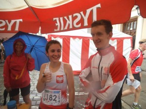 Julia z kolegą z reprezentacji Polski